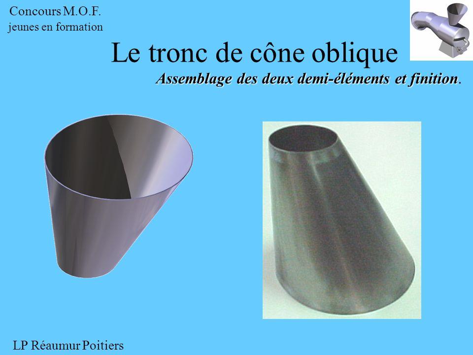 Le tronc de cône oblique