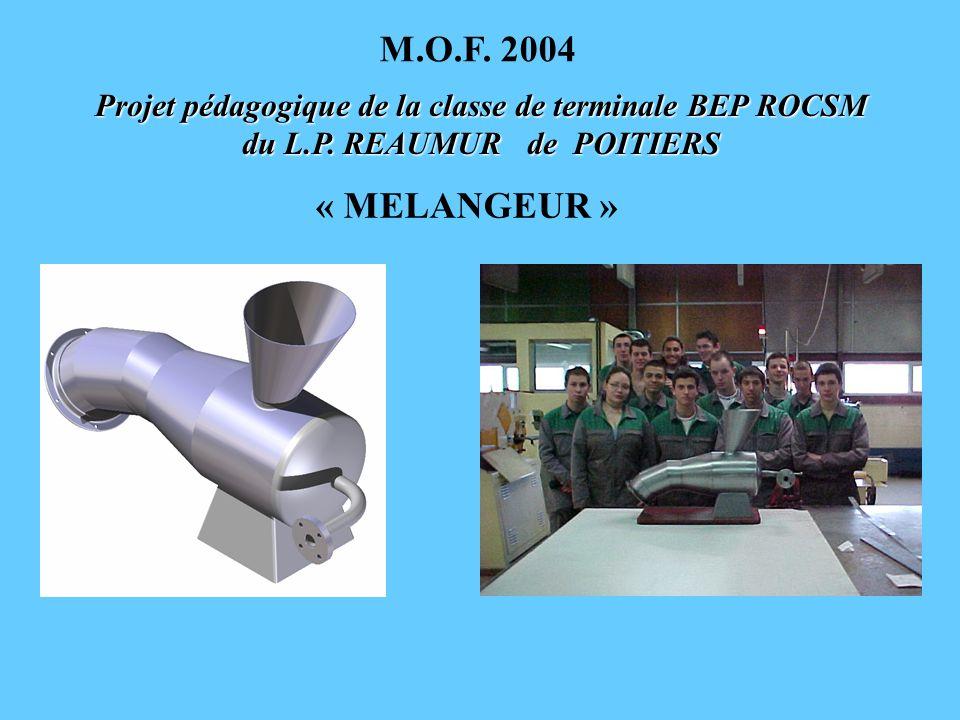 M.O.F. 2004 Projet pédagogique de la classe de terminale BEP ROCSM du L.P.