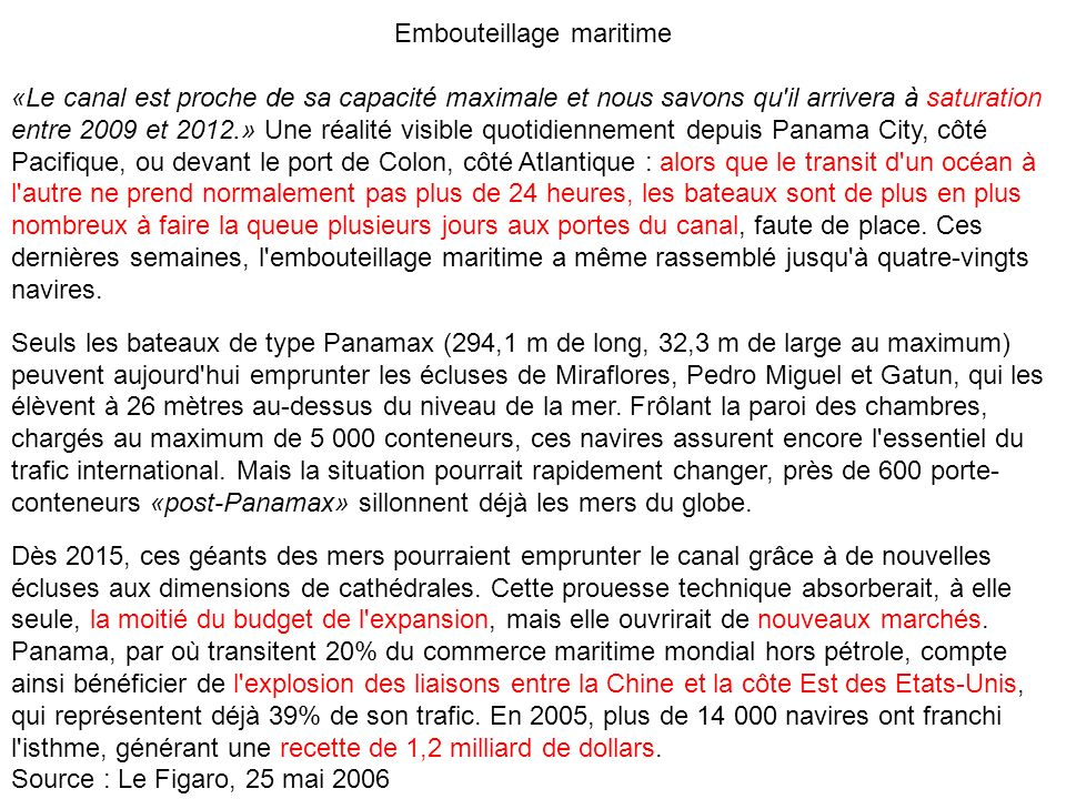 Embouteillage maritime