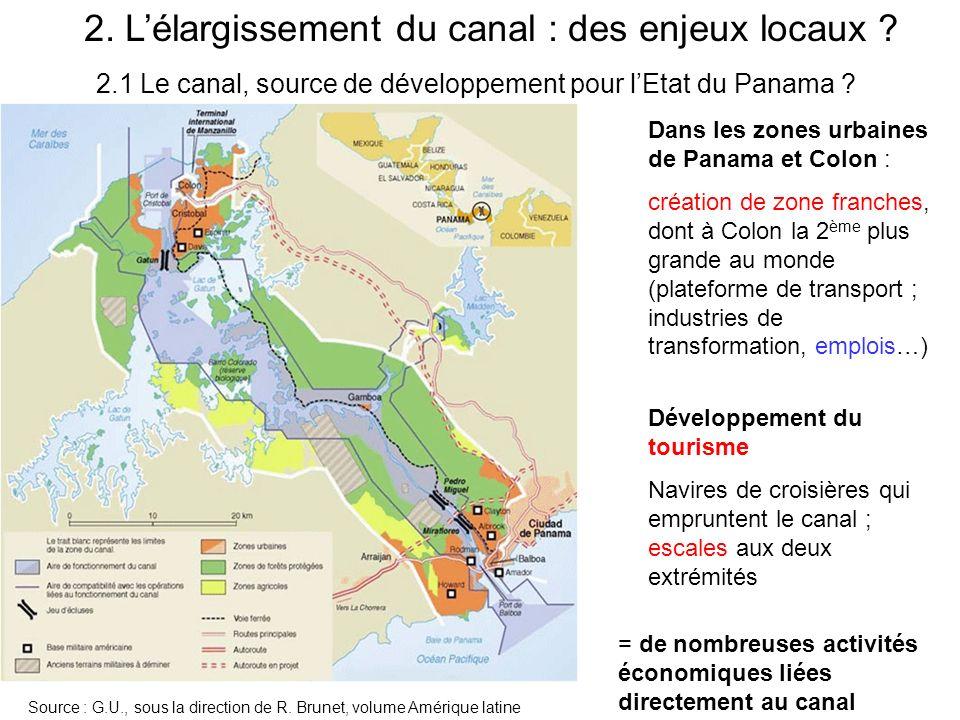 2.1 Le canal, source de développement pour l'Etat du Panama