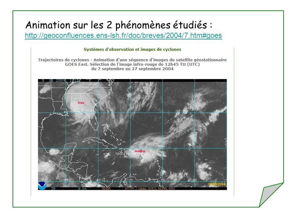 Animation sur les 2 phénomènes étudiés : http://geoconfluences.ens-lsh.fr/doc/breves/2004/7.htm#goes