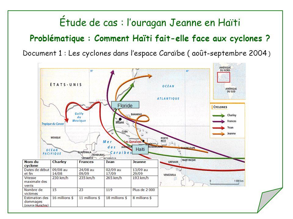 Étude de cas : l'ouragan Jeanne en Haïti