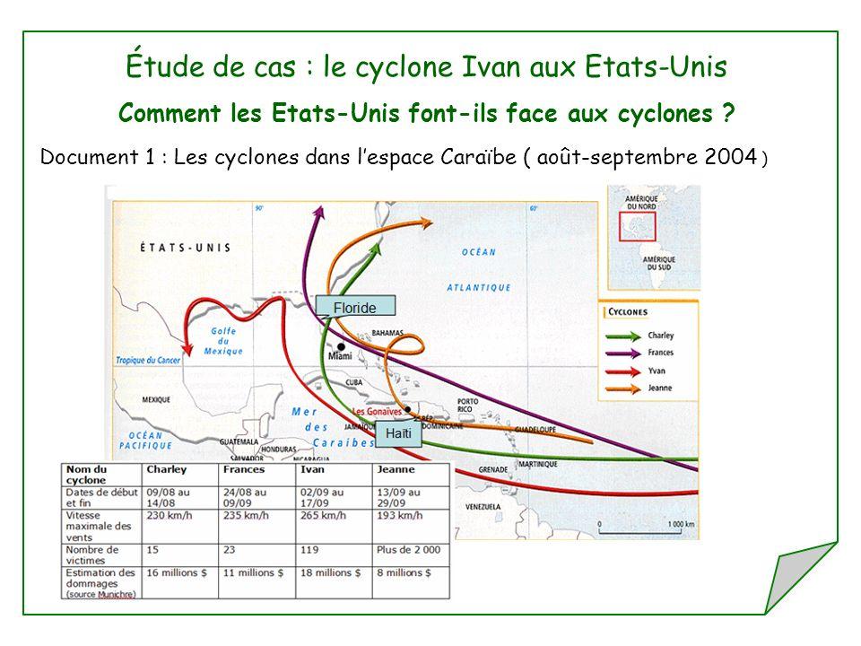 Étude de cas : le cyclone Ivan aux Etats-Unis