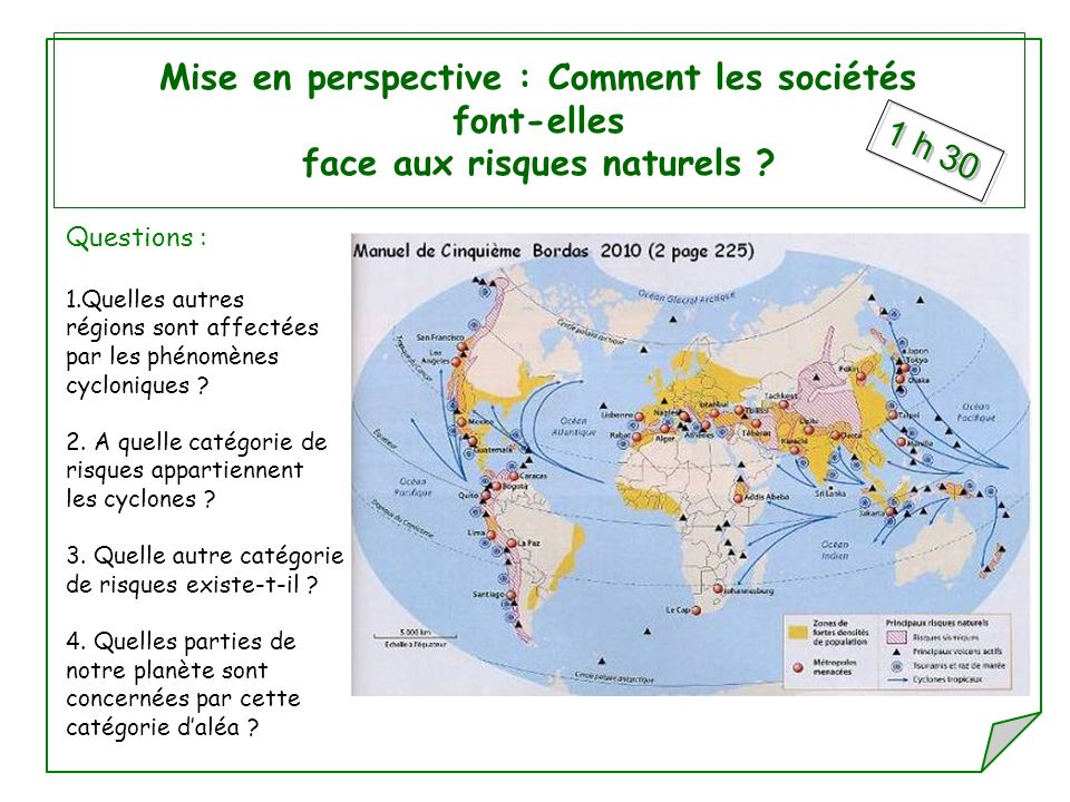 Mise en perspective : Comment les sociétés font-elles face aux risques naturels