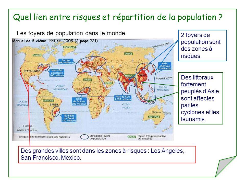 Quel lien entre risques et répartition de la population
