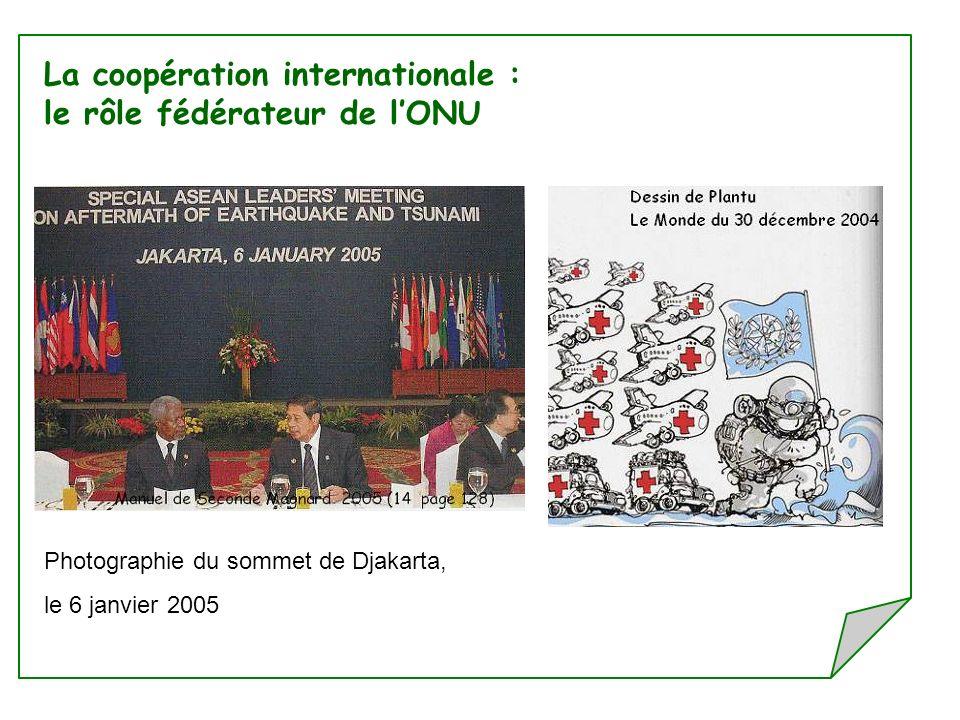 La coopération internationale : le rôle fédérateur de l'ONU