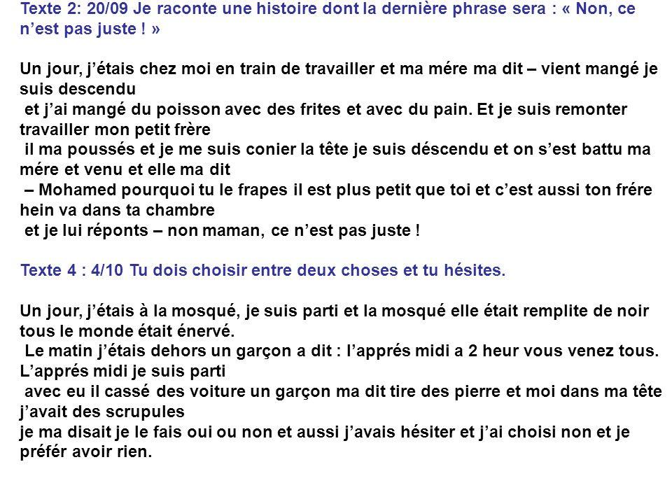 Les textes de Mohamed (depuis 3ans en France)