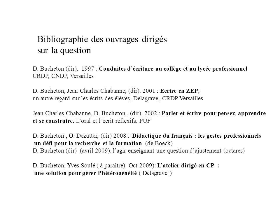 Bibliographie des ouvrages dirigés sur la question