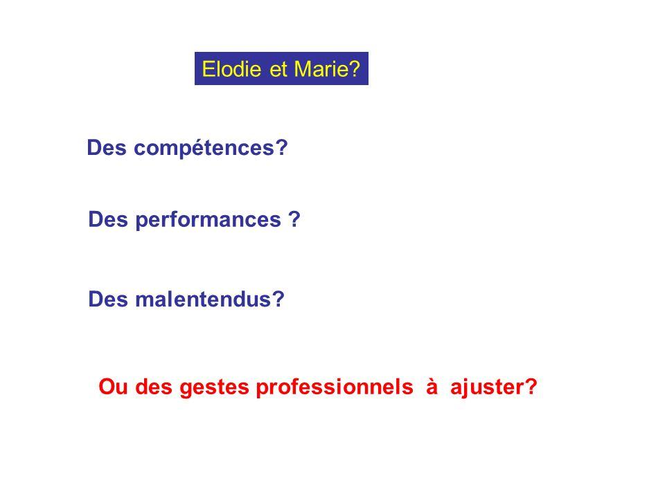 Elodie et Marie. Des compétences. Des performances .