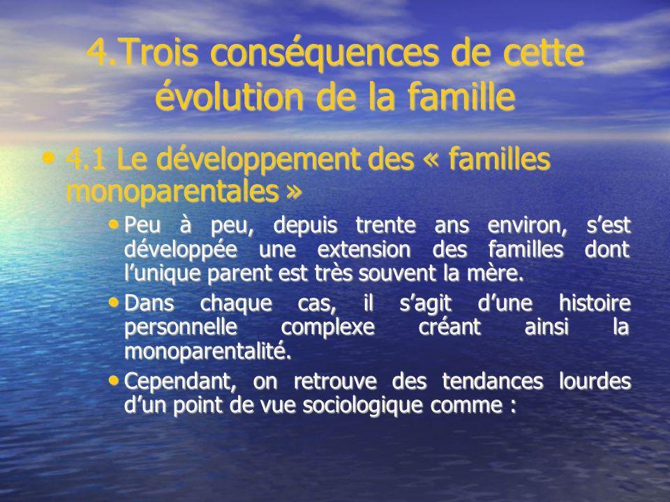 4.Trois conséquences de cette évolution de la famille