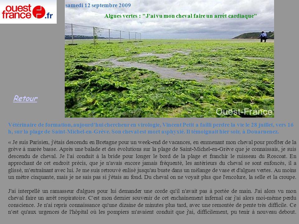 Algues vertes : J ai vu mon cheval faire un arrêt cardiaque