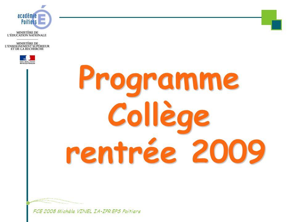 Programme Collège rentrée 2009