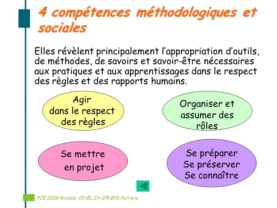 4 compétences méthodologiques et sociales