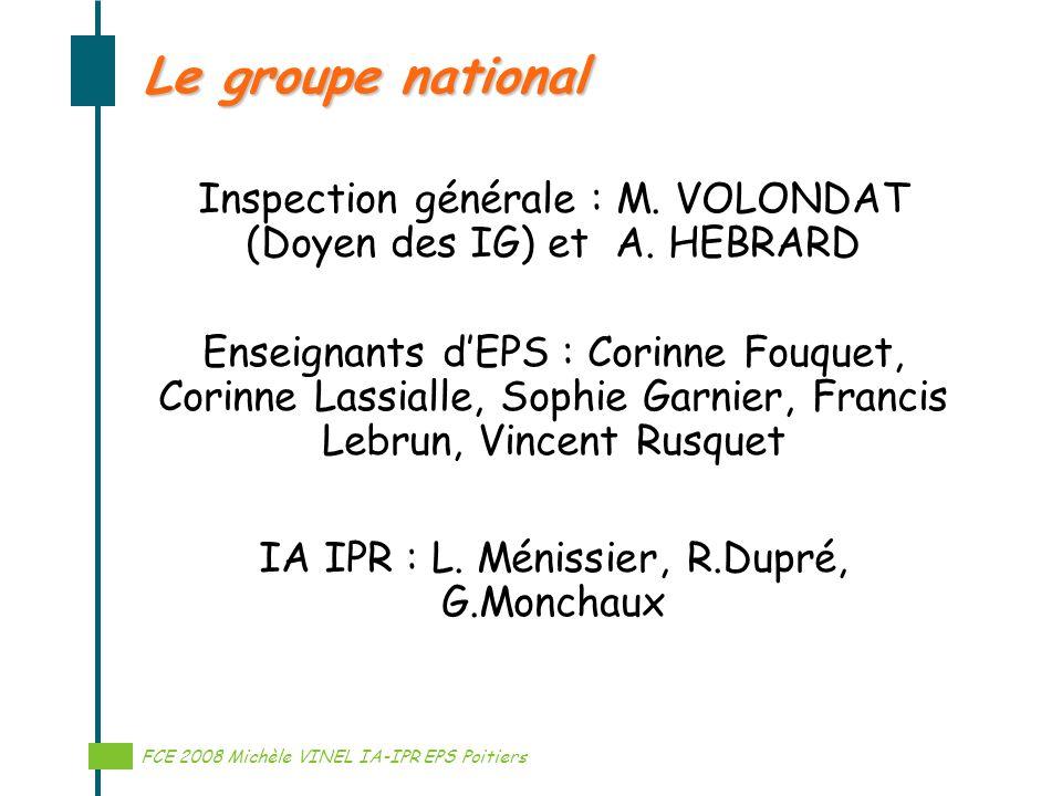 Le groupe national Inspection générale : M. VOLONDAT (Doyen des IG) et A. HEBRARD.