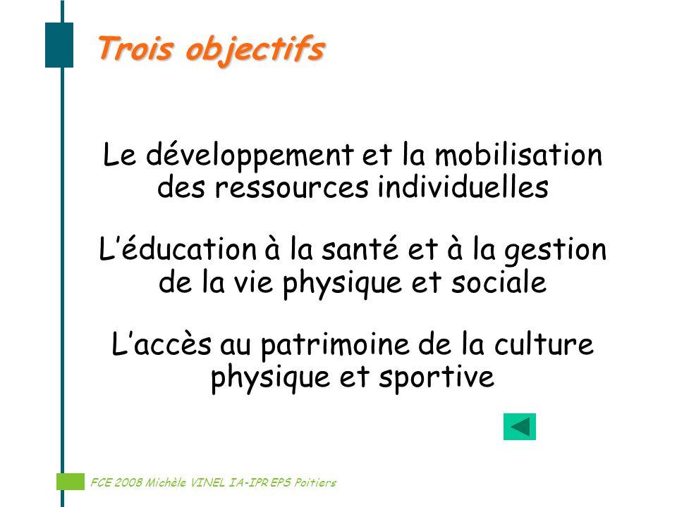 Trois objectifs Le développement et la mobilisation des ressources individuelles.