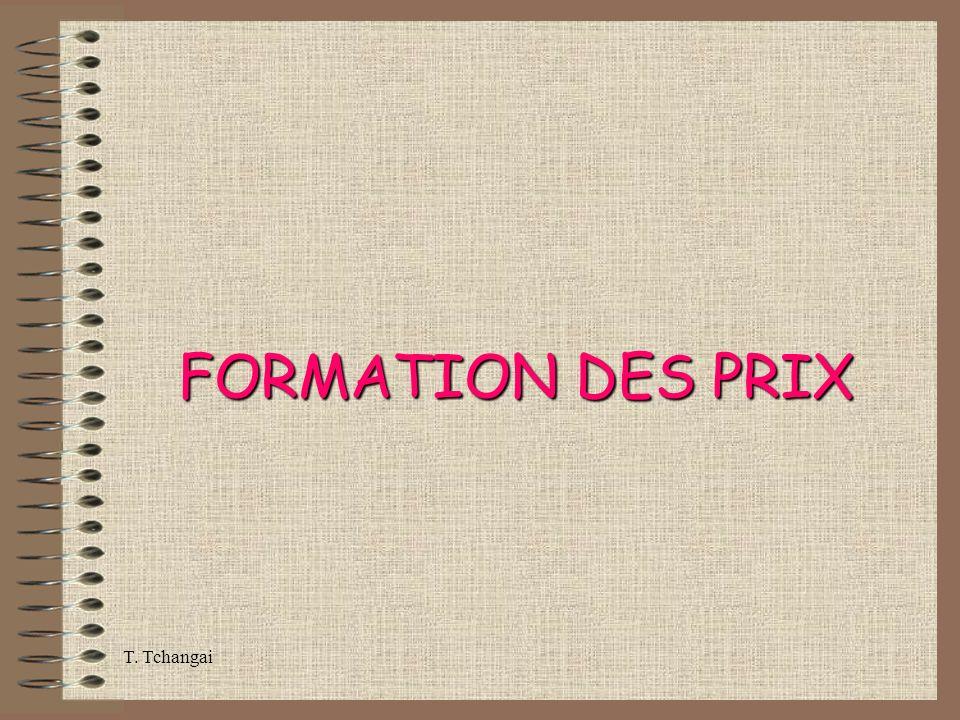 FORMATION DES PRIX T. Tchangai