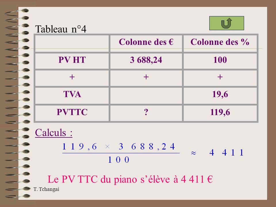 Le PV TTC du piano s'élève à 4 411 €