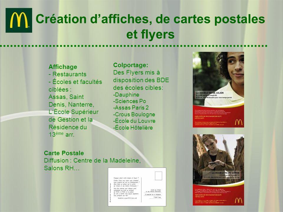 Création d'affiches, de cartes postales et flyers