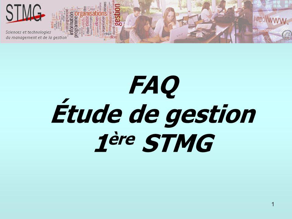 Étude de gestion 1ère STMG