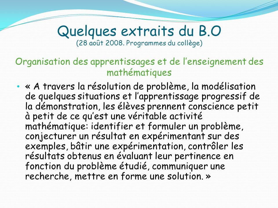 Quelques extraits du B. O (28 août 2008