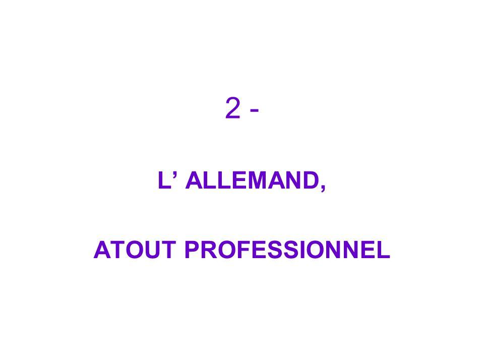 L' ALLEMAND, ATOUT PROFESSIONNEL