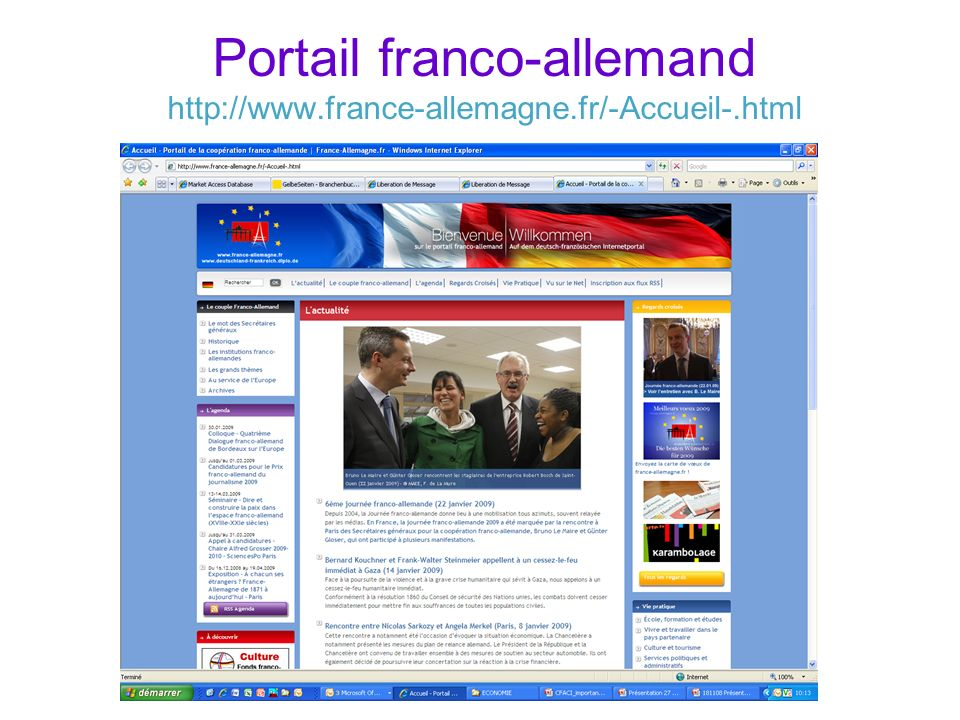 Portail franco-allemand http://www.france-allemagne.fr/-Accueil-.html