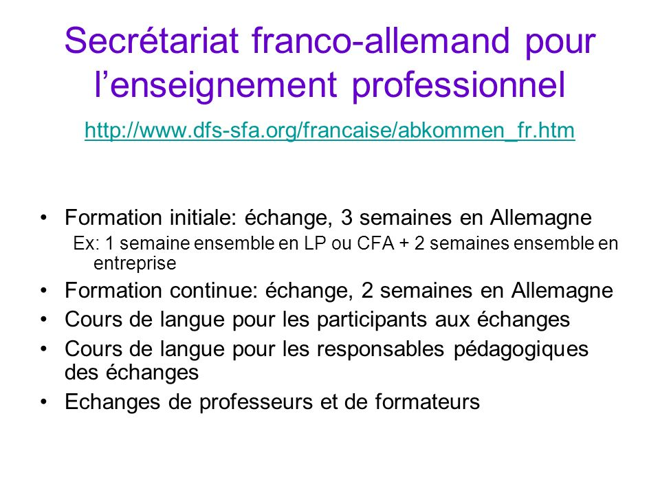 Secrétariat franco-allemand pour l'enseignement professionnel