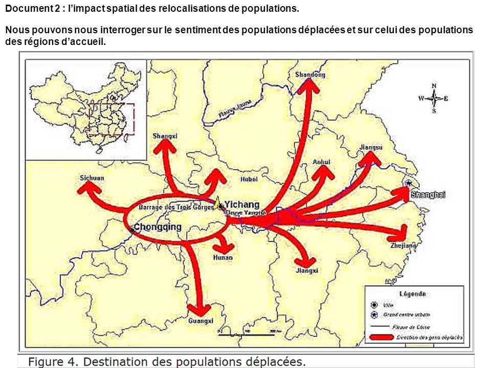Document 2 : l'impact spatial des relocalisations de populations.