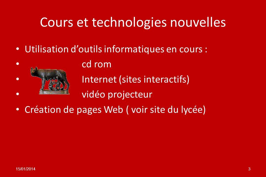 Cours et technologies nouvelles