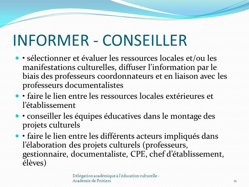 INFORMER - CONSEILLER
