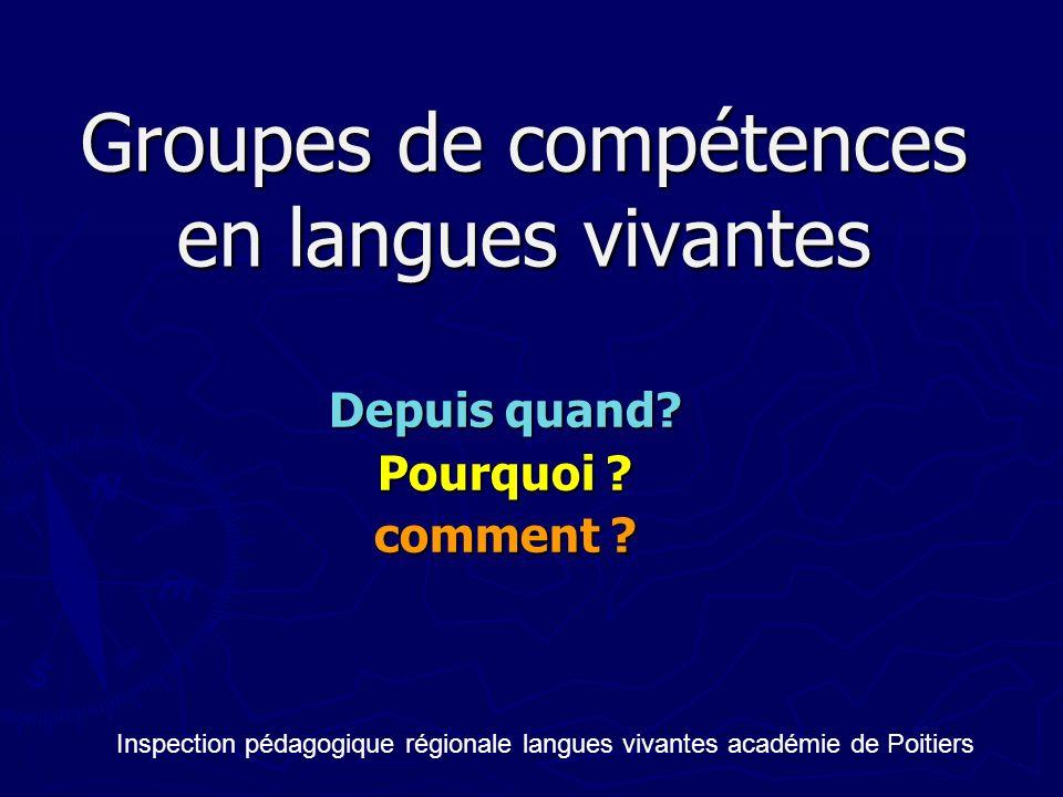 Groupes de compétences en langues vivantes