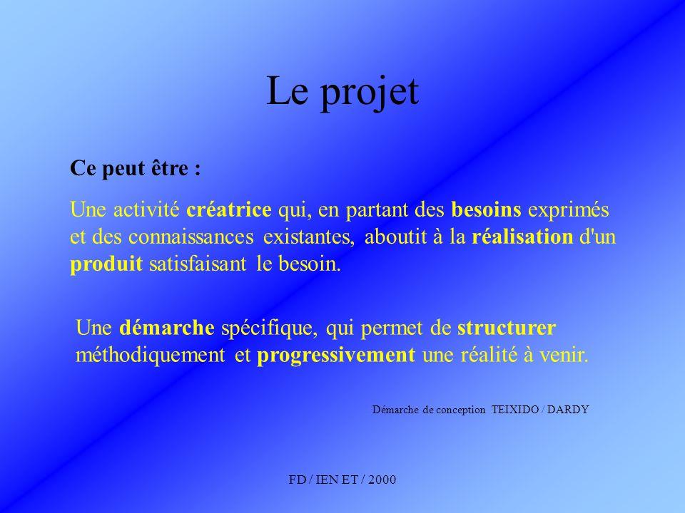 Le projetCe peut être :
