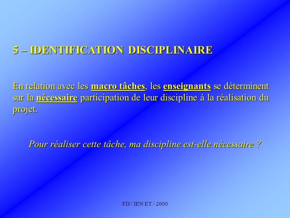 Pour réaliser cette tâche, ma discipline est-elle nécessaire