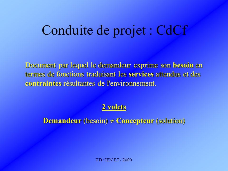 Conduite de projet : CdCf