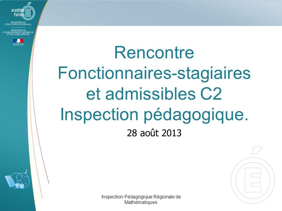 Rencontre Fonctionnaires-stagiaires et admissibles C2