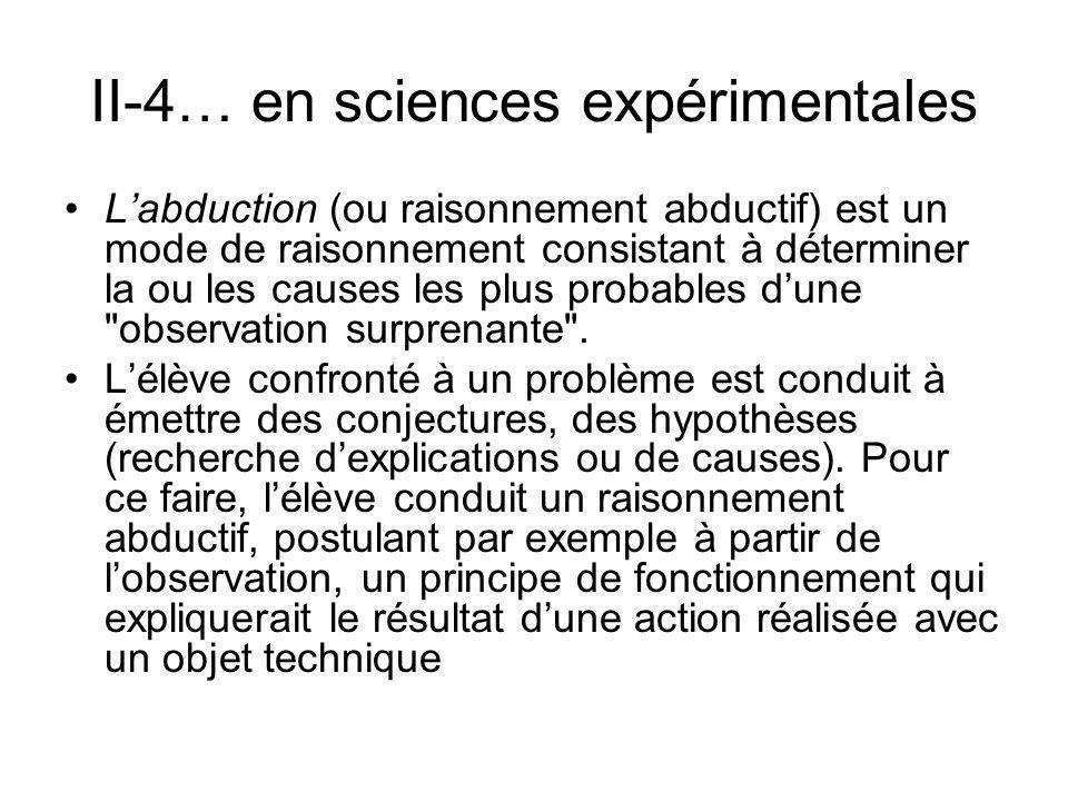 II-4… en sciences expérimentales
