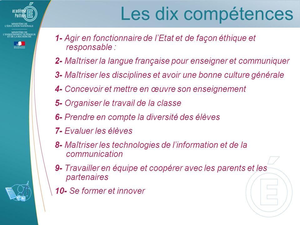 Les dix compétences