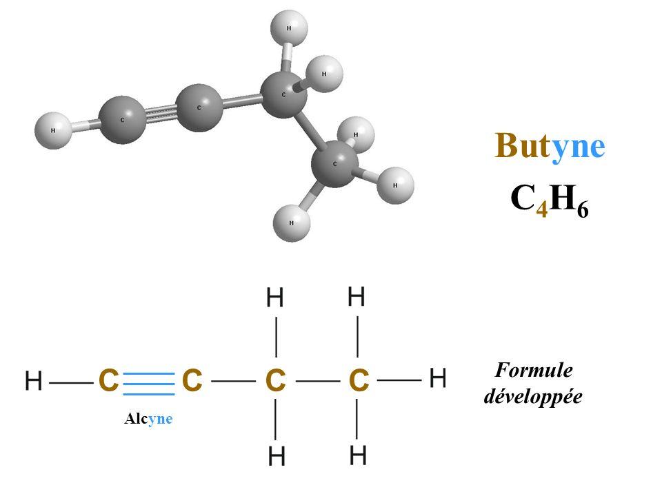 But yne C4H6 C Formule développée C C C Alcyne