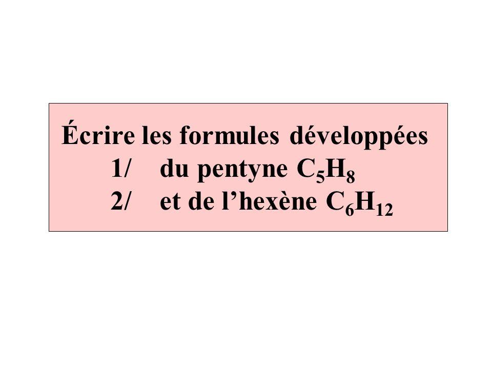 Écrire les formules développées
