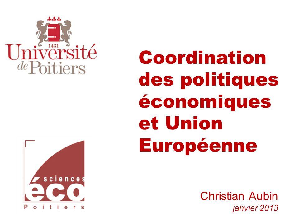 Coordination des politiques économiques et Union Européenne