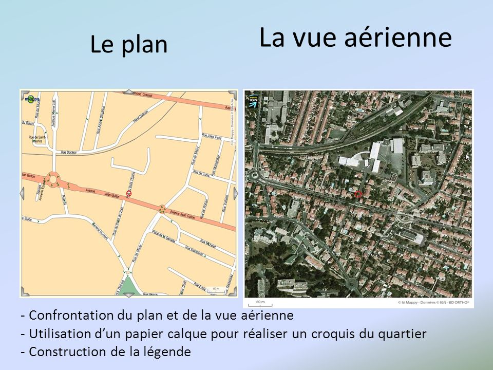 La vue aérienne Le plan.