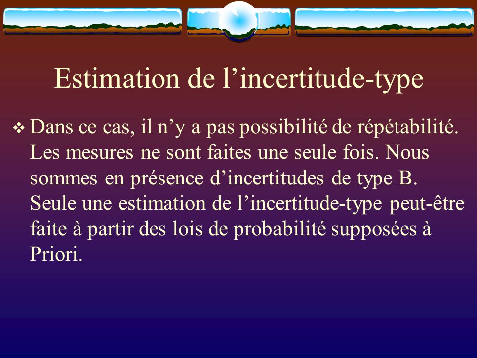 Estimation de l'incertitude-type