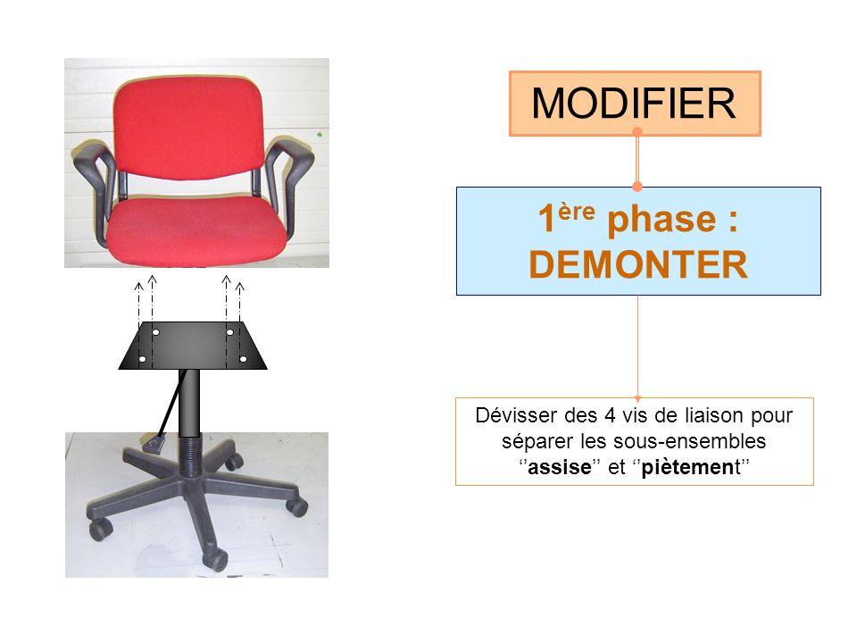 MODIFIER 1ère phase : DEMONTER
