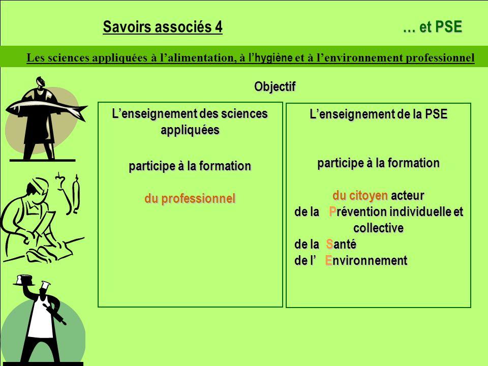 Savoirs associés 4 … et PSE Objectif