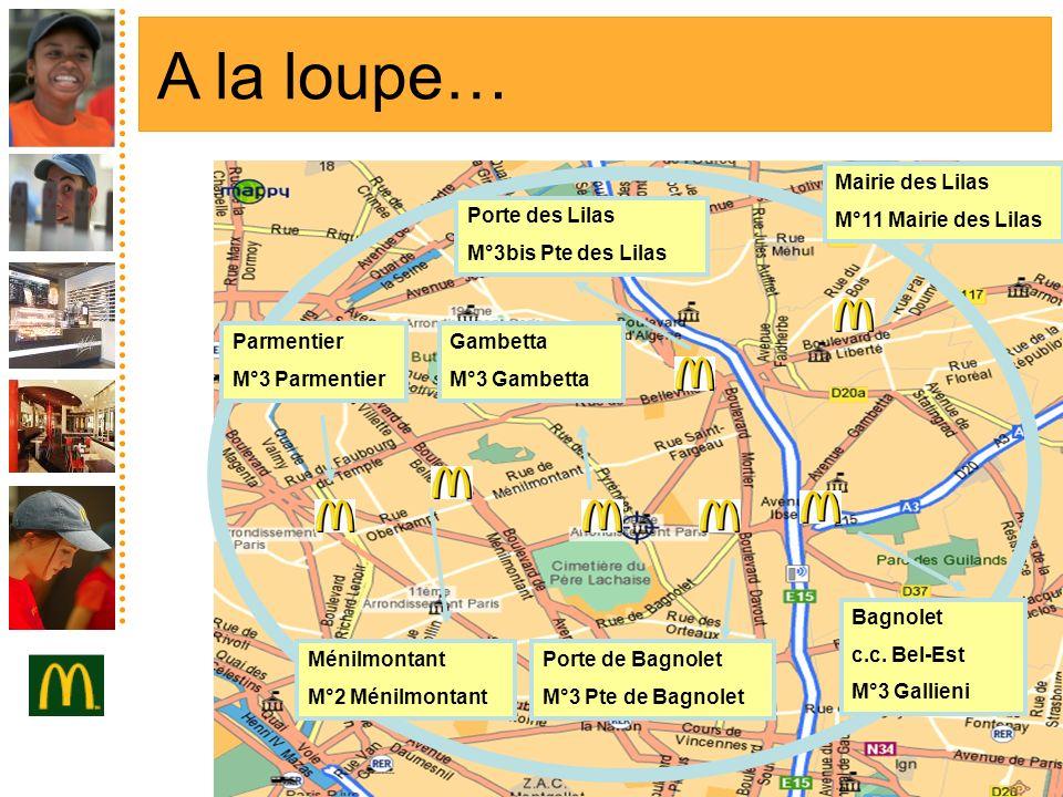 A la loupe… Mairie des Lilas M°11 Mairie des Lilas Porte des Lilas
