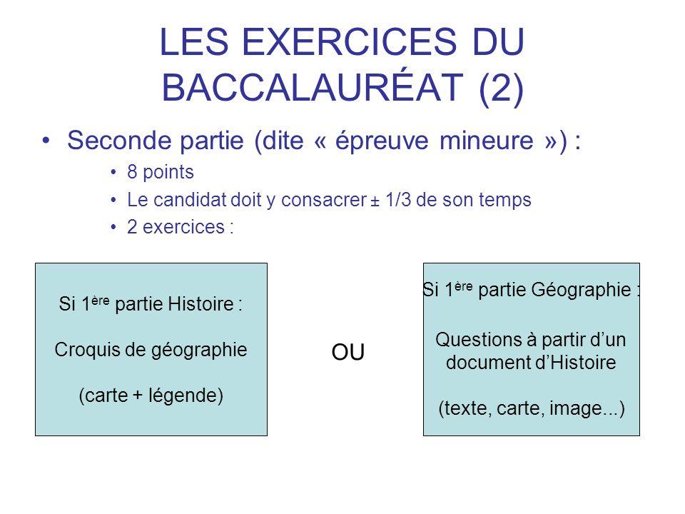 LES EXERCICES DU BACCALAURÉAT (2)