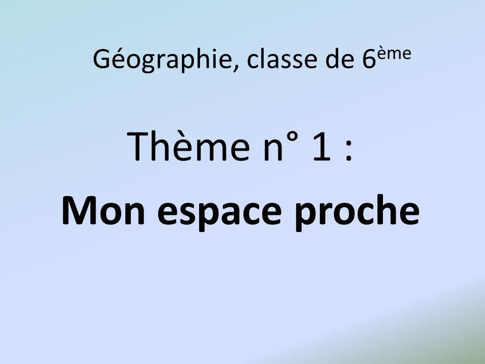 Géographie, classe de 6ème