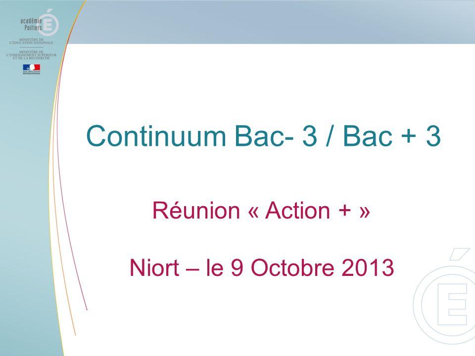 Continuum Bac- 3 / Bac + 3 Réunion « Action + »