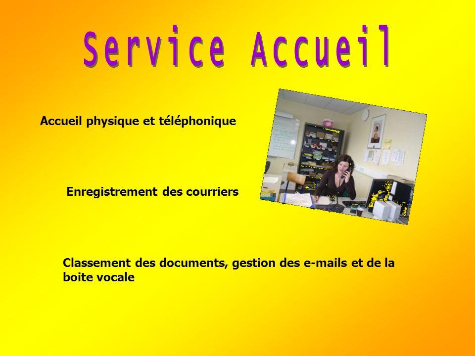 Service Accueil Accueil physique et téléphonique