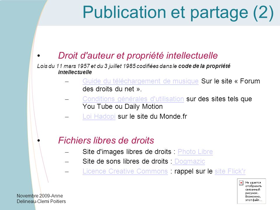 Publication et partage (2)